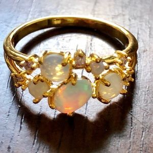 Anthropologie Opal Cluster Ring
